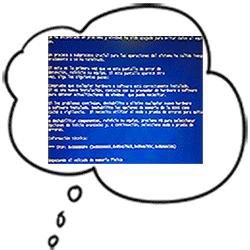 Cuando mi mente va a la pantalla azul