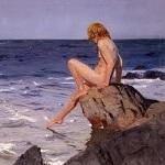 Niña Mirando el Mar