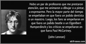 frase célebre deJohn Lennon