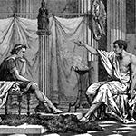 aristóteles dialoga con alejandro magno
